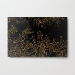 Syndey map, Australia Metal Print