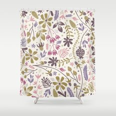 Vintage Blooms  Shower Curtain