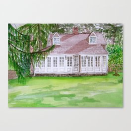 """The cottage in the wood"" Canvas Print"