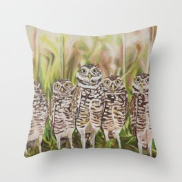 Who? (Burrowing Owls) Throw Pillow