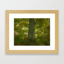 CORINTH, LOVIS 1858 Tapiau East Prussia - 1925  Im Walde In the Forest. 1886. Framed Art Print