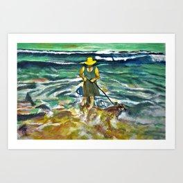 Walking Roger Dodger Art Print