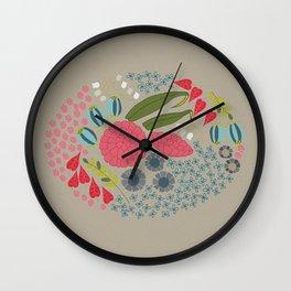 Letterpress Floral - Light Wall Clock