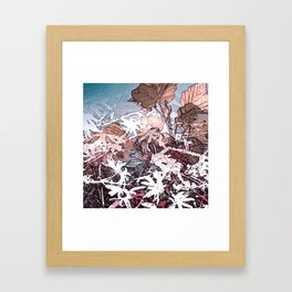 Frosty Transformation to Winter - An abstracted impression Framed Art Print