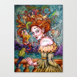 A Pirate Queen's Memory Canvas Print
