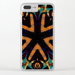 Tribal Geometric Clear iPhone Case