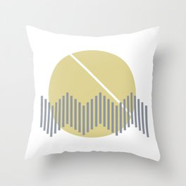 Waves In the Sun Throw Pillow
