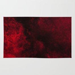Modern Dark Red Textured Abstract Rug