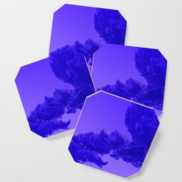 Blue Summer Pines Coaster