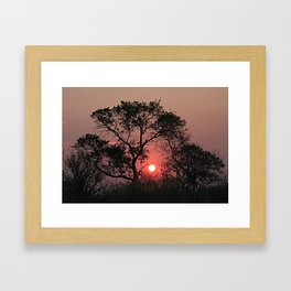 South Africa Sunset Framed Art Print