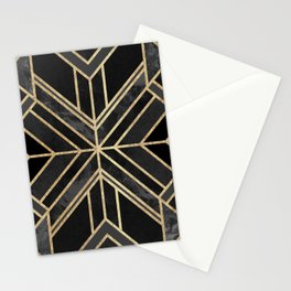 Geo Black Marble Dream Stationery Cards