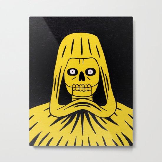 Yellow Death Metal Print