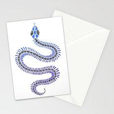 Snake Skeleton – Blue & Black Palette Stationery Cards
