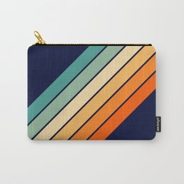 Farida - 70s Vintage Style Retro Stripes Carry-All Pouch