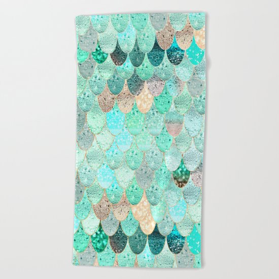 SUMMER MERMAID Beach Towel