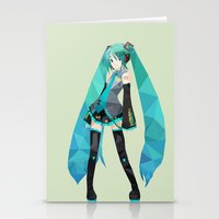 vocaloid Stationery Cards featuring Miku by Sally Taylor