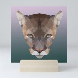 Polygon Puma Mini Art Print
