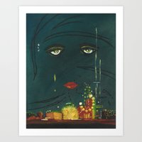 great gatsby Art Prints featuring Gatsby by Julia Lopez