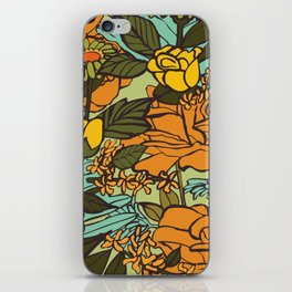 retro garden iPhone Skin