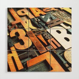 3B - Typography Photography™ Wood Wall Art