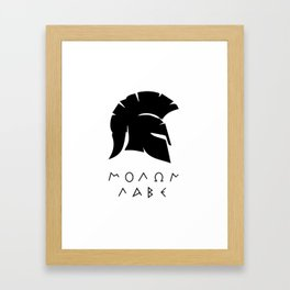 molon labe sparta Framed Art Print