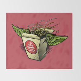The Flying Noodle Takeaway Company Throw Blanket