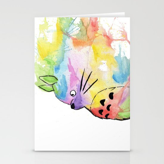 My Rainbow Totoro Stationery Cards