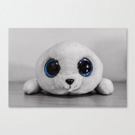 Huggable photogenic seal Canvas Print