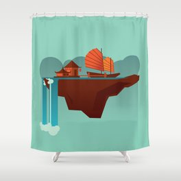Floating Island (Water House) Shower Curtain