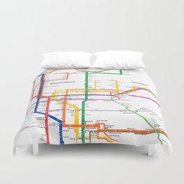 New York City subway map Duvet Cover