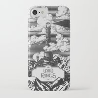lotr iPhone & iPod Cases featuring Lord of the Rings Mordor Tower Vintage Geek Art by Barrett Biggers