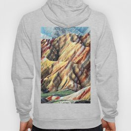 Rainbow mountain abstract artistic colorful mountain Hoody
