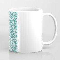turquoise coral pattern Mug