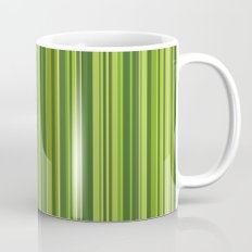 Many multicolored strips in the green sample Mug