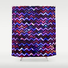 Galactic Chevron Shower Curtain