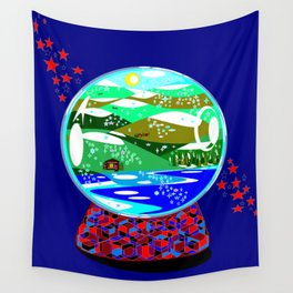 A Snow Globe of the Mountains of Kentucky Wall Tapestry