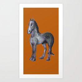 Noble Steed (burnt orange) Art Print