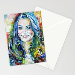 CATHERINE,Duchess of CAMBRIDGE - watercolor portrait Stationery Cards