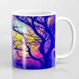 Black Trees Deep Bright & Colorful Space Coffee Mug