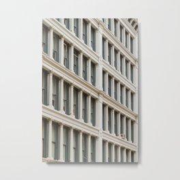 Column by Column in Soho Metal Print