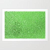 Water Condensation 05 Green Art Print