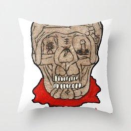 Acid Bath Clown Throw Pillow