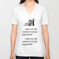 alphabet V-neck T-shirts featuring Alphabet by Olya Goloveshkina