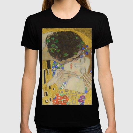 The Kiss - Closeup - Gustav Klimt by maryedenoa