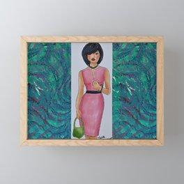 The Woman In Pink Framed Mini Art Print