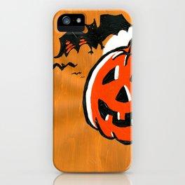 Vintage Jack o' Lantern and Bats iPhone Case