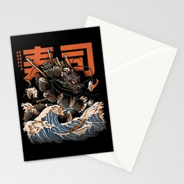 The Black Sushi Dragon Stationery Cards