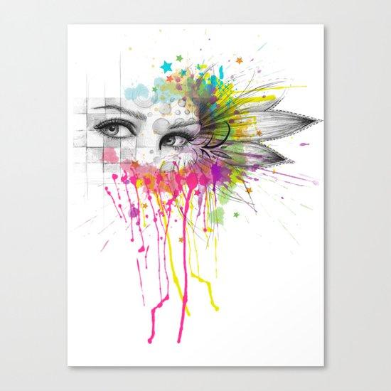 Beautiful Flower Eyes Canvas Print