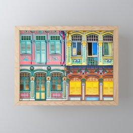 The Singapore Shophouse, Composite Framed Mini Art Print