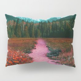 Path through the Forest and Mountains Pillow Sham
